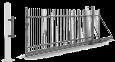 Откатные ворота управляемые вручную и с электроприводом