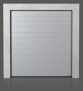 Промышленные секционные ворота с узором высокий гофр (W)