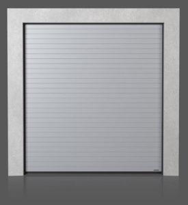 Промышленные секционные ворота с узором низкий гофр (N)