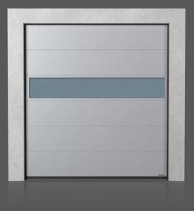 Промышленные секционные ворота с алюминиевой панелью VISUAL