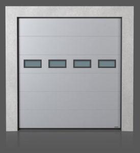Промышленные секционные ворота с окошками A-1