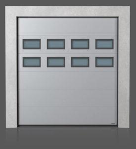 Промышленные секционные ворота с окошками A-2 x2