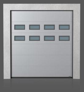 Промышленные секционные ворота с окошками A-1 x2