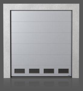 Промышленные секционные ворота с вентиляционными решётками K-2