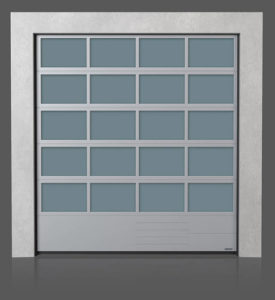 Промышленные секционные ворота с нижней стальной панелью G, V, N, W