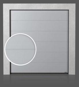 Промышленные секционные ворота с формировкой V (V)