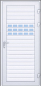 Двери из профиля AW 100 с остекленным профилем