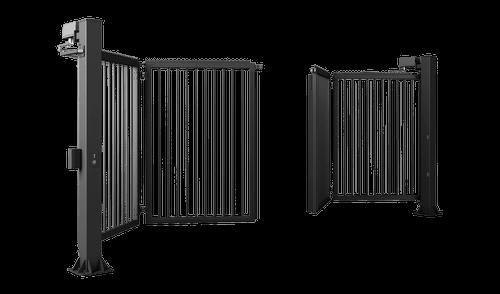 Двустворчатые ворота V-KING с заполнением профилем 25x25 мм