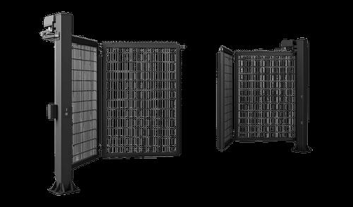 Двустворчатые ворота V-KING с заполнением решетчатой панелью Vega 2D Super