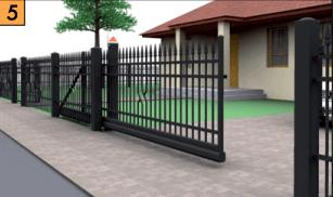 Откатные ворота – это универсальное решение для обустройства въездных ворот. Створка ворот не занимает места в проёме и перемещается по внутренней стороне ограды, не касаясь земли.