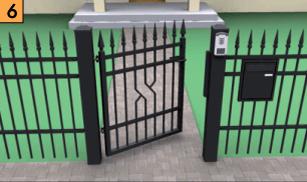 Калитка должна быть расположена так, чтобы она обеспечивала свободный вход на участок.  Калитка может открываться в любую сторону.