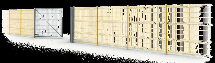 Панельные решетчатые ограждения