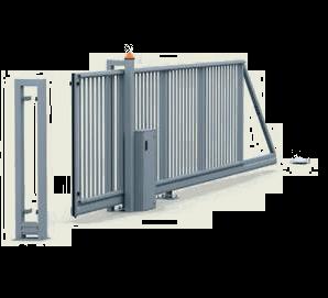 Раздвижные ворота P 130 с низким шкафом