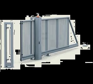 Раздвижные ворота P 130 с высоким шкафом