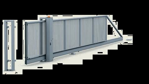 Откатные ворота PI 200: управляемые вручную и с электроприводом