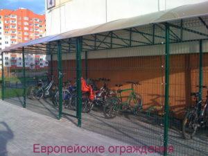 Вело-парковка Nylofor 3D высота 2.45м.