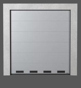 Промышленные секционные ворота с вентиляционными решётками K-1