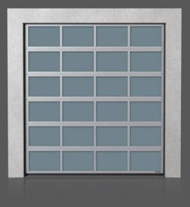 Алюминиевые промышленные секционные ворота