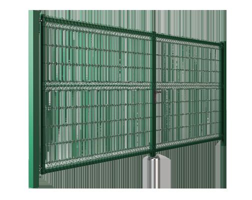 Двустворчатые ворота Modest заполнение решётчатой панелью Vega B