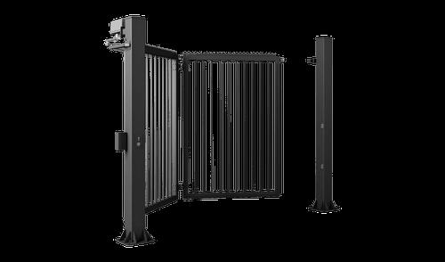 Одностворчатые правые ворота V-KING с заполнением профилем 25x25 мм