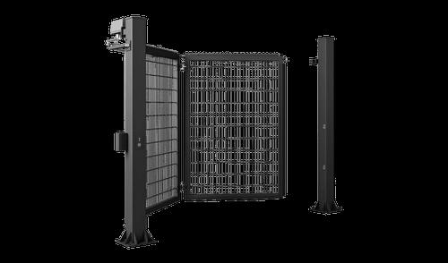 Одностворчатые правые ворота V-KING с заполнением решетчатой панелью Vega 2D Super